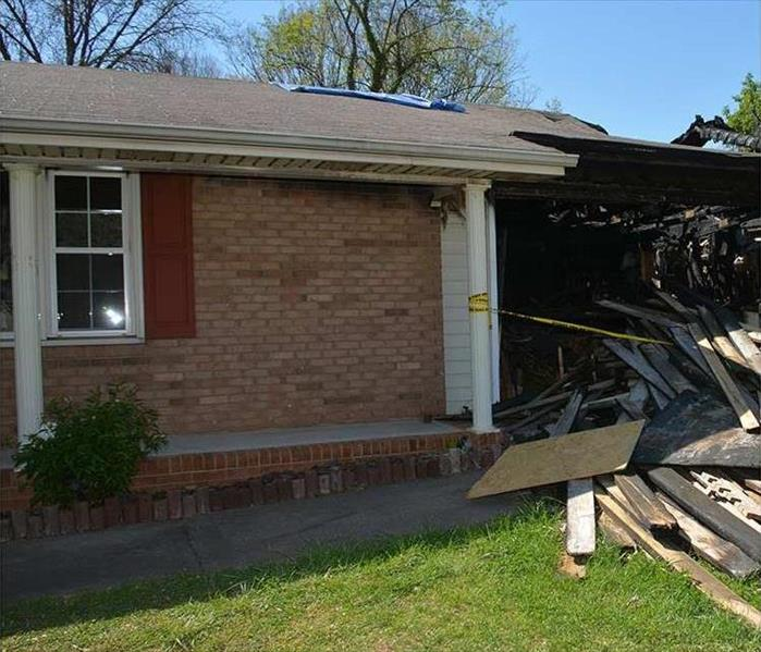 Fire Damaged Brick Home in Vinings