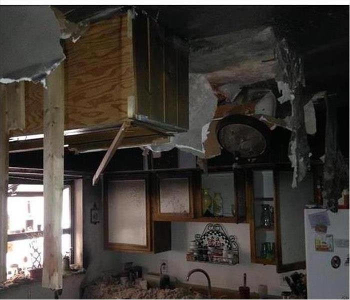 Kitchen wrecked by fire